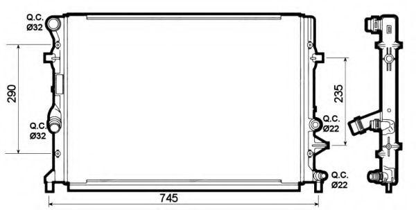 Радіатор охолоджування NRF 53139