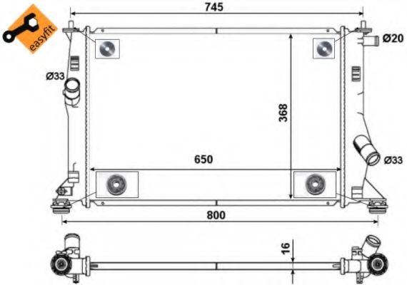 Радиатор, охлаждение двигателя NRF арт. 53465
