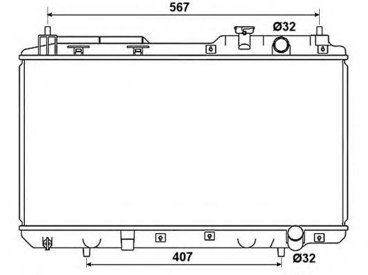 Радіатор охолоджування NRF 53506