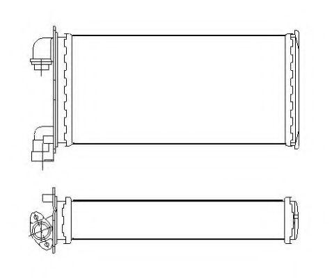Радіатор пічки NRF 53543