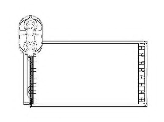 Теплообменник, отопление салона NRF - 53550