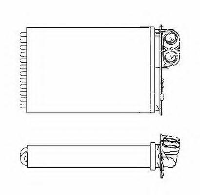 Теплообменник, отопление салона NRF - 53553