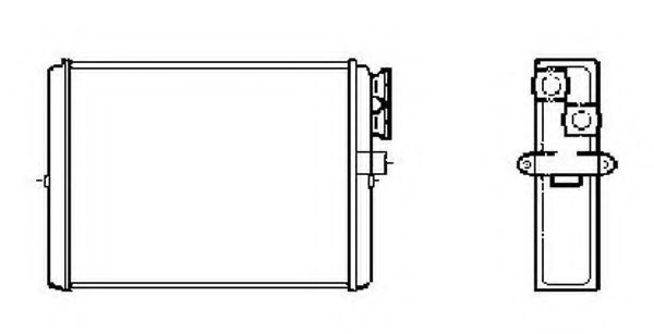 Теплообменник, отопление салона NRF - 53559