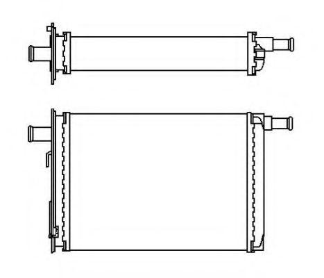 Теплообменник, отопление салона NRF - 53563