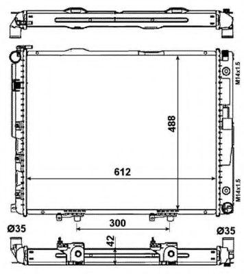 Радиатор, охлаждение двигателя NRF арт. 53786