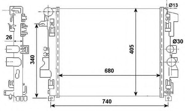 Радиатор, охлаждение двигателя NRF арт. 53801