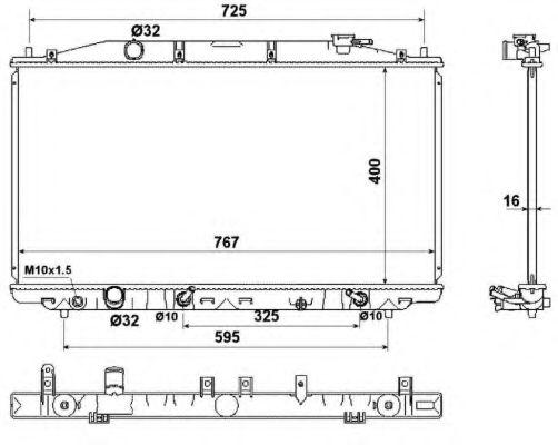 Радиатор, охлаждение двигателя NRF арт. 53971