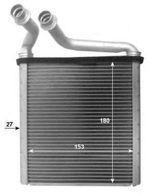 Теплообменник, отопление салона NRF арт. 54205