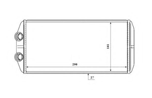 Теплообменник, отопление салона NRF - 54210