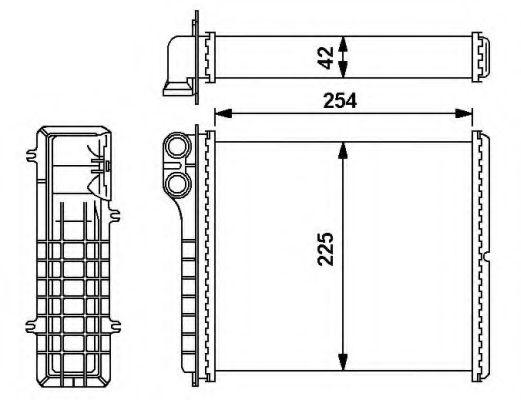 Радіатор пічки NRF 54239