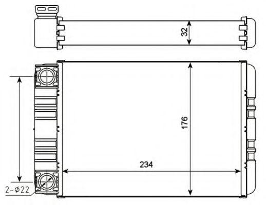 Теплообменник, отопление салона NRF арт. 54274