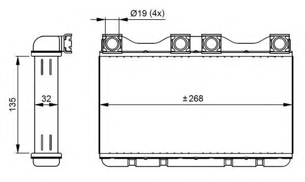 Теплообменник, отопление салона NRF арт. 54283