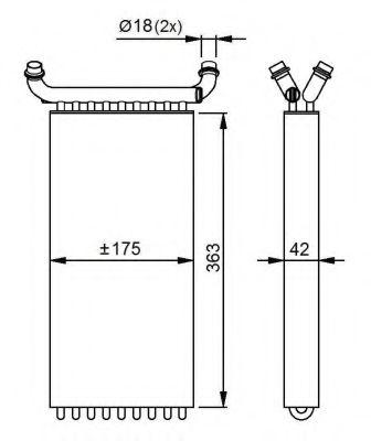 Теплообменник, отопление салона NRF арт. 54293