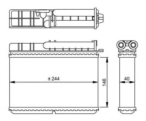 Радіатор пічки NRF 54307