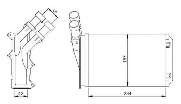 Теплообменник, отопление салона NRF арт. 54308