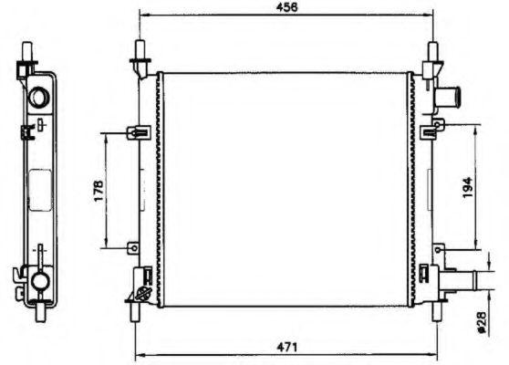 Радіатор охолоджування NRF 54601
