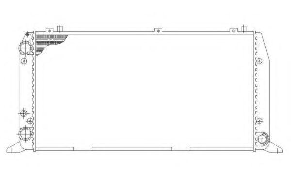 Радиатор, охлаждение двигателя NRF арт. 54602