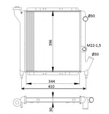 Радиатор, охлаждение двигателя NRF - 54641