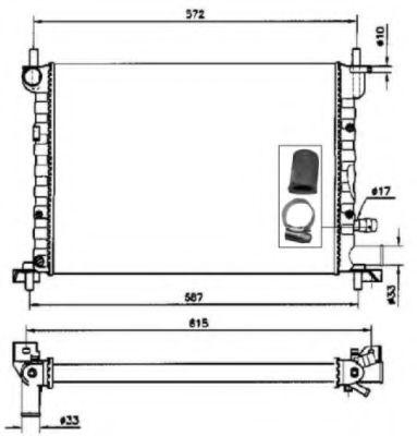 Радиатор, охлаждение двигателя NRF - 54667