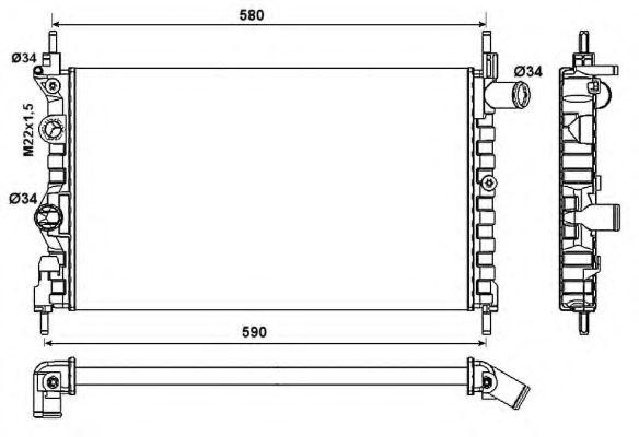 Радиатор, охлаждение двигателя NRF арт. 54682