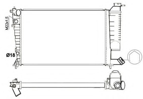 Радиатор, охлаждение двигателя NRF - 54716