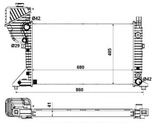 Радіатор охолоджування NRF 55349A