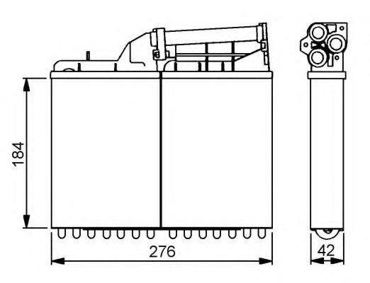Теплообменник, отопление салона NRF - 58053