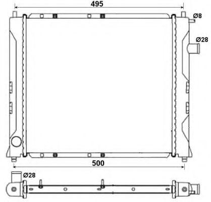 Радіатор охолоджування NRF 58107A