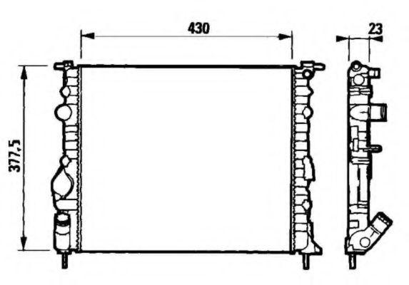 Радіатор охолоджування NRF 58192