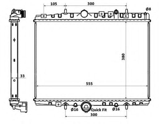Радиатор, охлаждение двигателя NRF арт. 58341