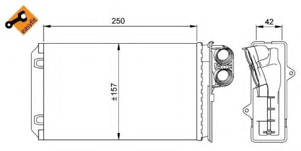 Теплообменник, отопление салона NRF арт.