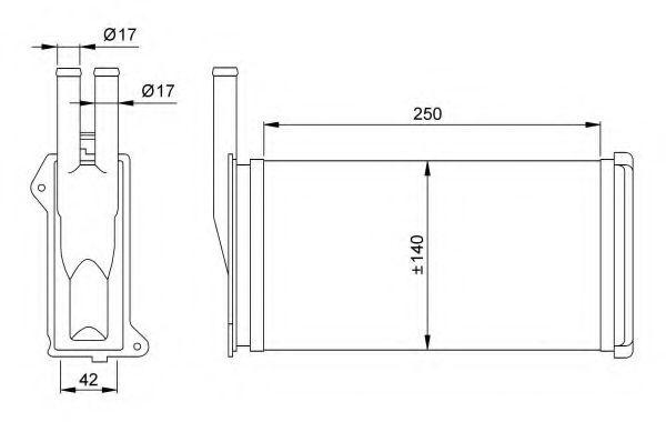 Теплообменник, отопление салона NRF - 58638