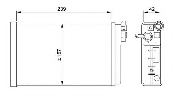 Теплообменник, отопление салона NRF - 58640