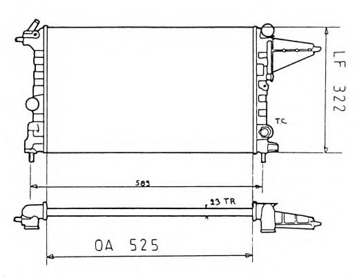 Радиатор, охлаждение двигателя NRF арт. 58775