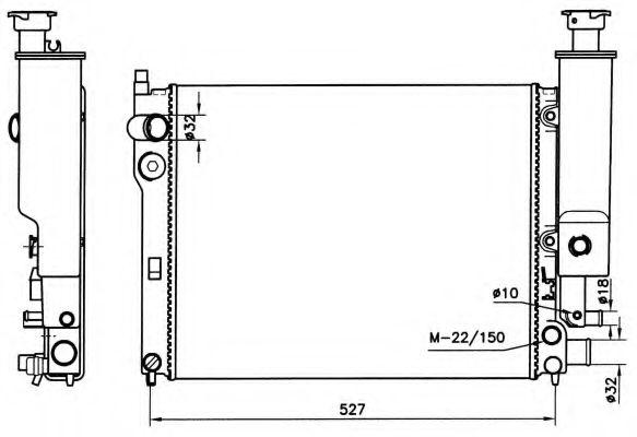 Радіатор охолоджування NRF 58776