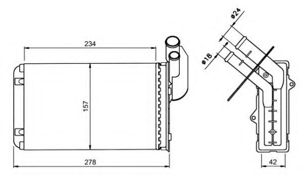Теплообменник, отопление салона NRF арт. 58836