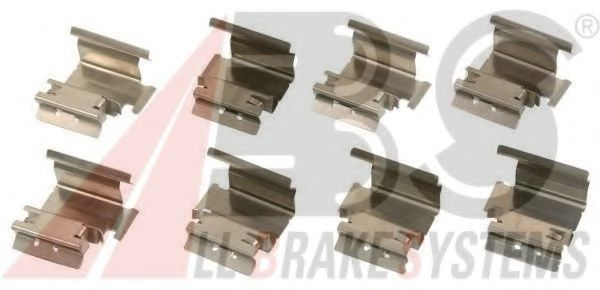 Комплектующие, колодки дискового тормоза ABS арт.
