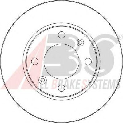 Тормозной диск ABS арт. 17357