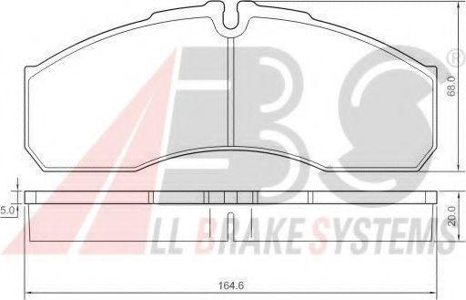Комплект тормозных колодок, дисковый тормоз ABS арт. 37379
