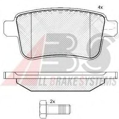Комплект тормозных колодок, дисковый тормоз ABS арт. 37665