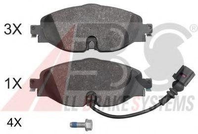 Комплект тормозных колодок, дисковый тормоз ABS арт. 37958