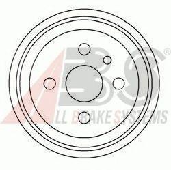 Тормозной барабан ABS арт. 5128S