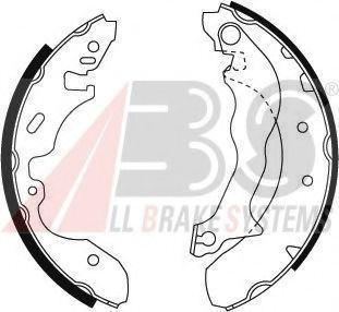 Комплект тормозных колодок ABS арт.