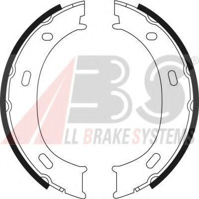 Комплект тормозных колодок, стояночная тормозная система ABS арт.