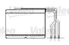 Теплообменник, отопление салона VALEO арт. 812239