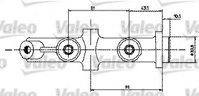 Главный тормозной цилиндр VALEO арт.