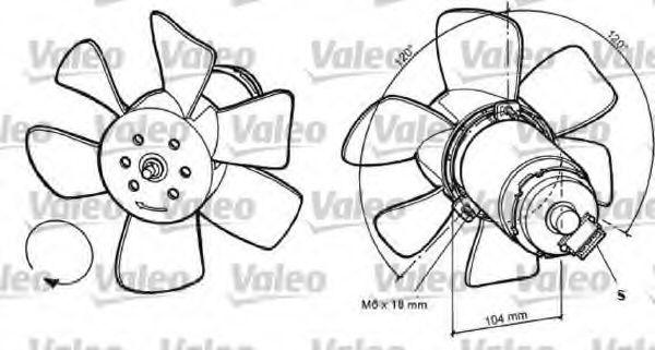 Вентилятор, охлаждение двигателя VALEO арт.