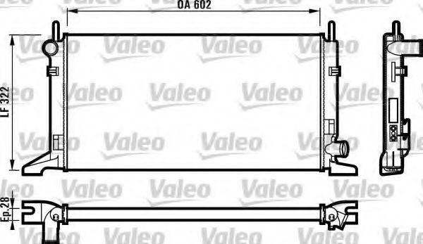 Радіатор охолоджування Valeo 730117