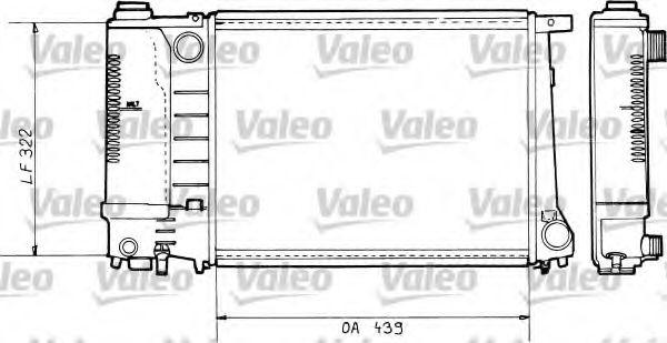 Радіатор охолоджування Valeo 730365