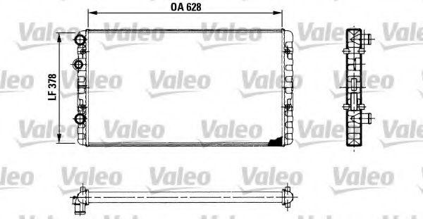 Радіатор охолоджування Valeo 730955